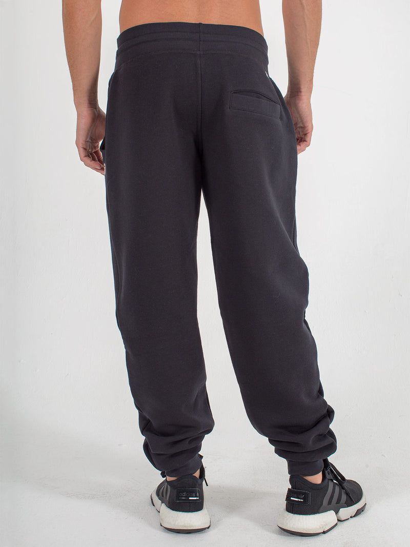 mens sweats joggers sexy brand in black back view