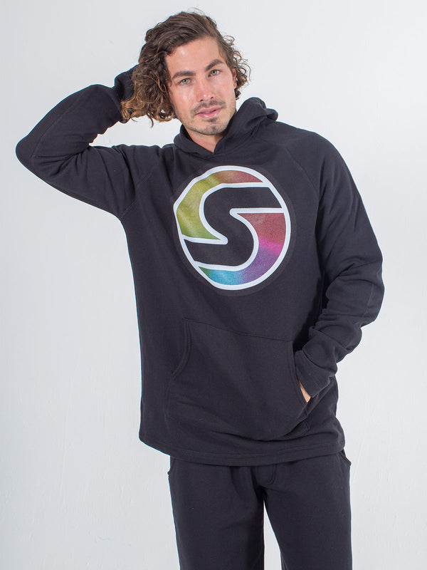 men's hoodie sexy brand big s color black