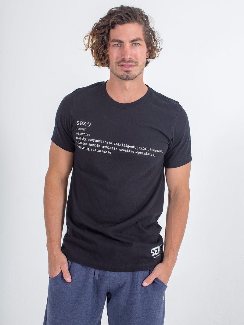 Men's Sexy Brand Sexy Definition Tee T-Shirt Black
