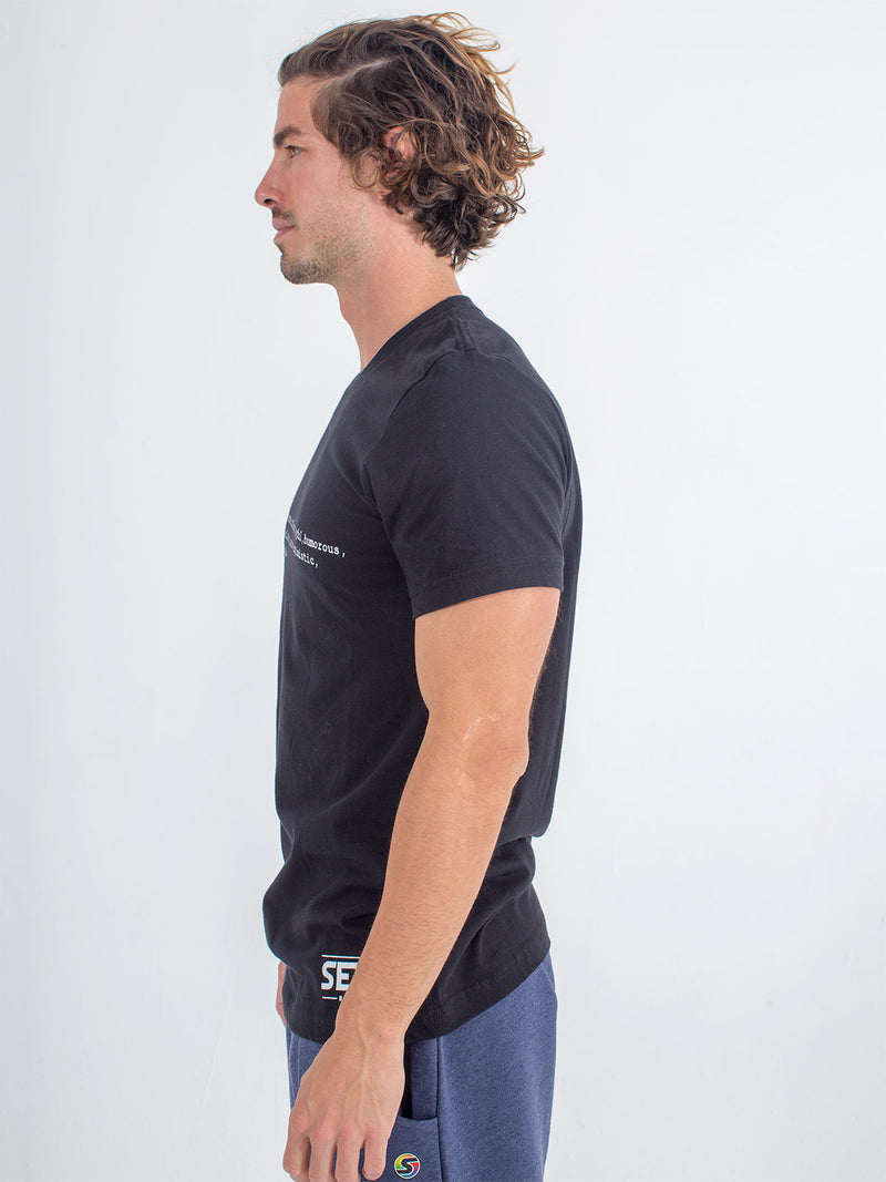 Men's Sexy Brand Sexy Definition Tee T-Shirt Black side view