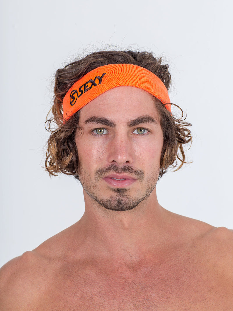 sexy brand beach tennis accessories sweatband orange