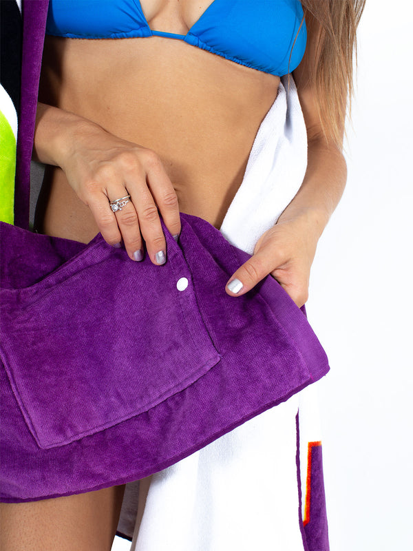 Sexy Brand hidden pocket beach towel purple