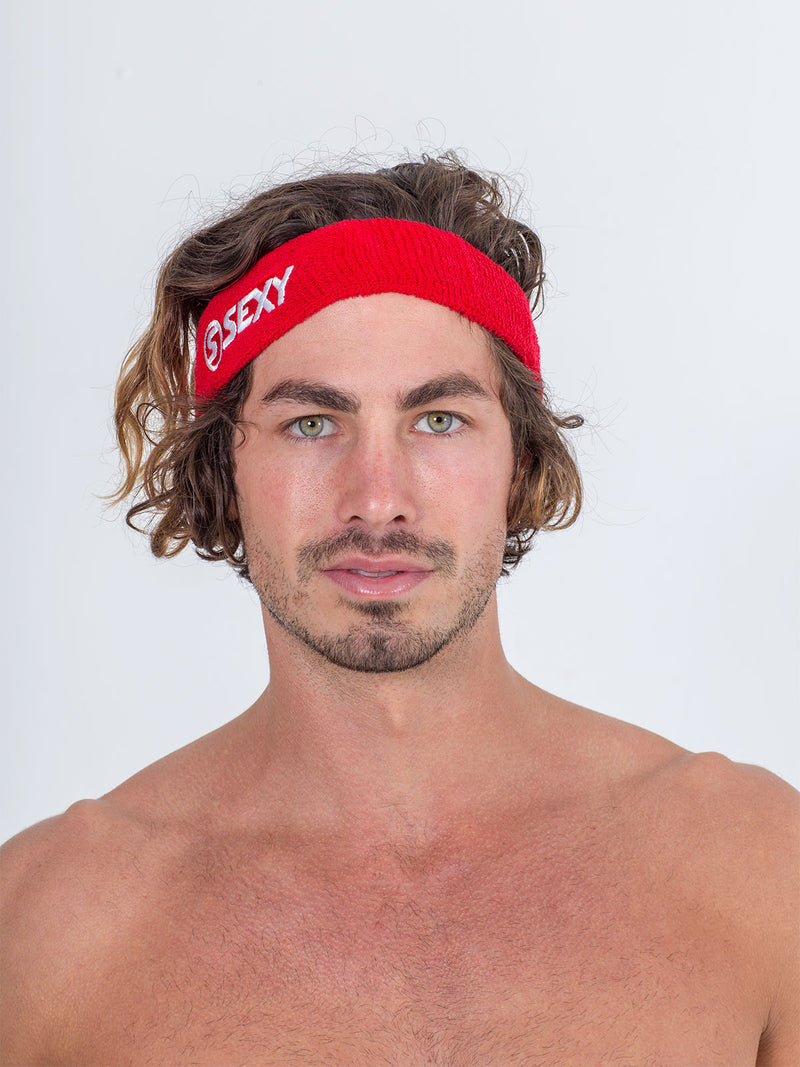 sexy brand beach tennis accessories sweatband red