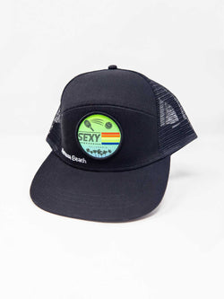 Cali 3 Stripe 7 Panel Hat