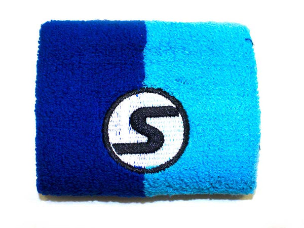 Retro Wristband - Blue on Blue
