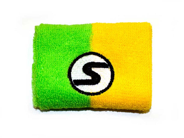 Retro Wristband - Green/Yellow