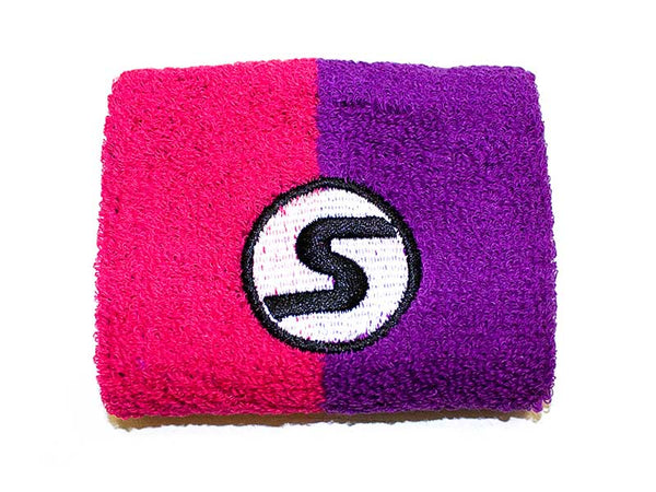 Retro Wristband in Pink & Purple