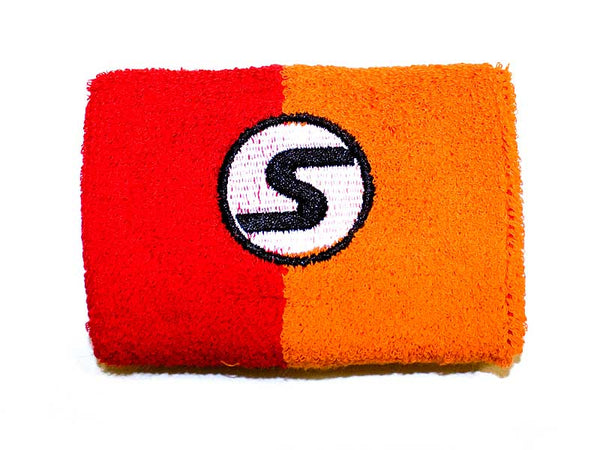 Retro Wristband in Red & Orange