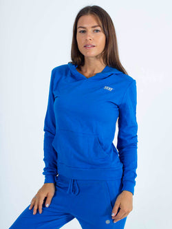 Sexy Brand Women's Softie Hoodie Pull Over Royal Blue Organic Cotton