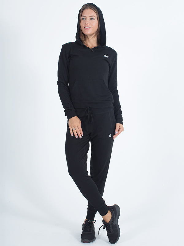 Sexy Brand Women's Softie Hoodie Pull Over Black Organic Cotton
