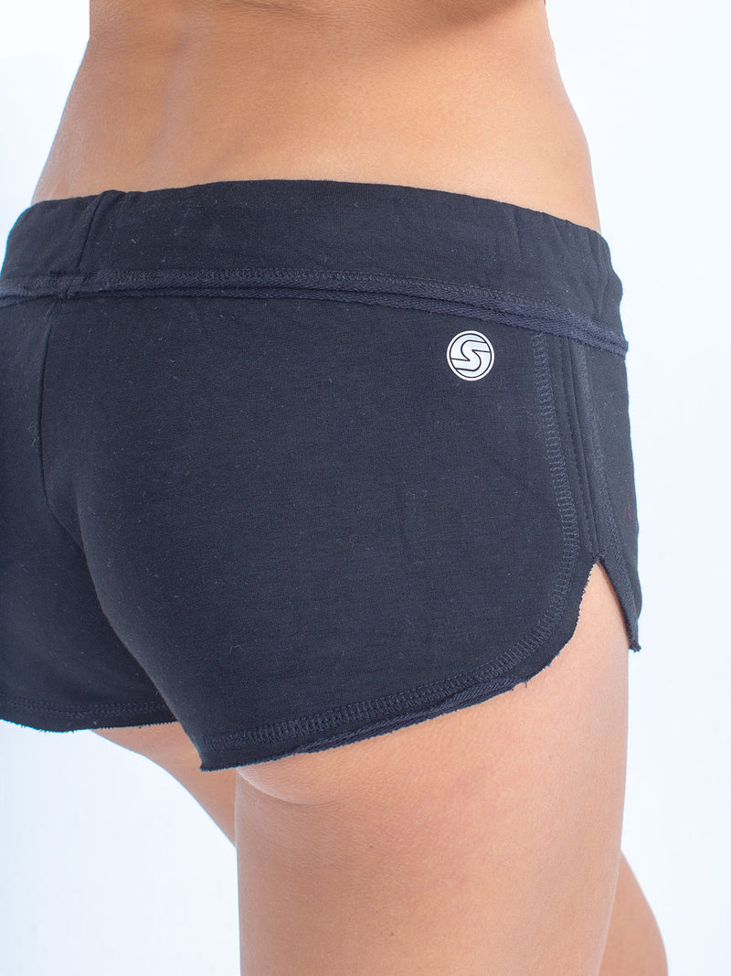 sexy brand womens softie shorts black back view