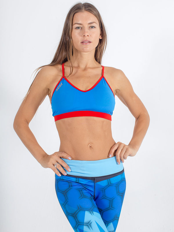 sexy brand womens sports swim top blue aqua