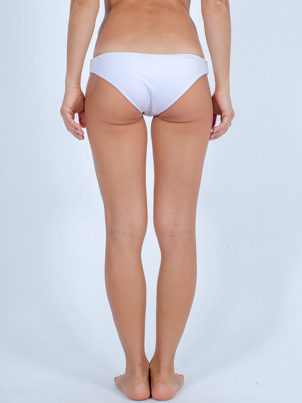 Sexy Brand women's euro cut swim bikini bottom white