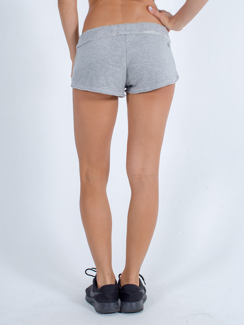 sexy brand womens softie shorts gray back view