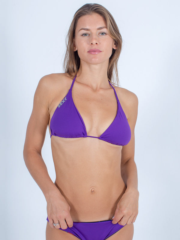Sexy Brand women's swim bikini purple triangle top