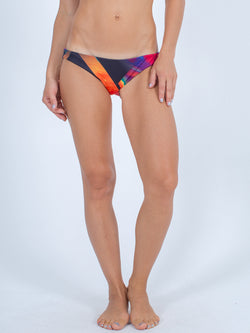 Sexy Brand women's euro cut swim bikini bottom purple red sunfire reversible