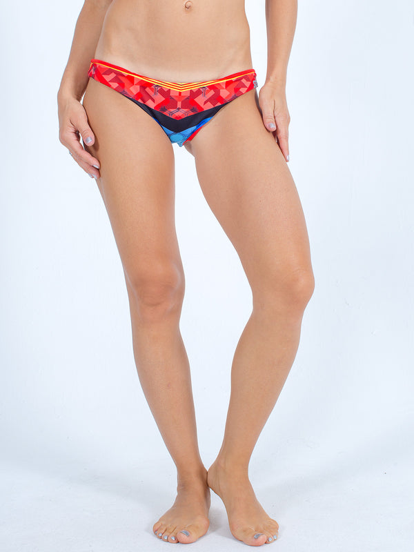 Sexy Brand women's euro cut swim bikini bottom blue red sexy hexy reversible