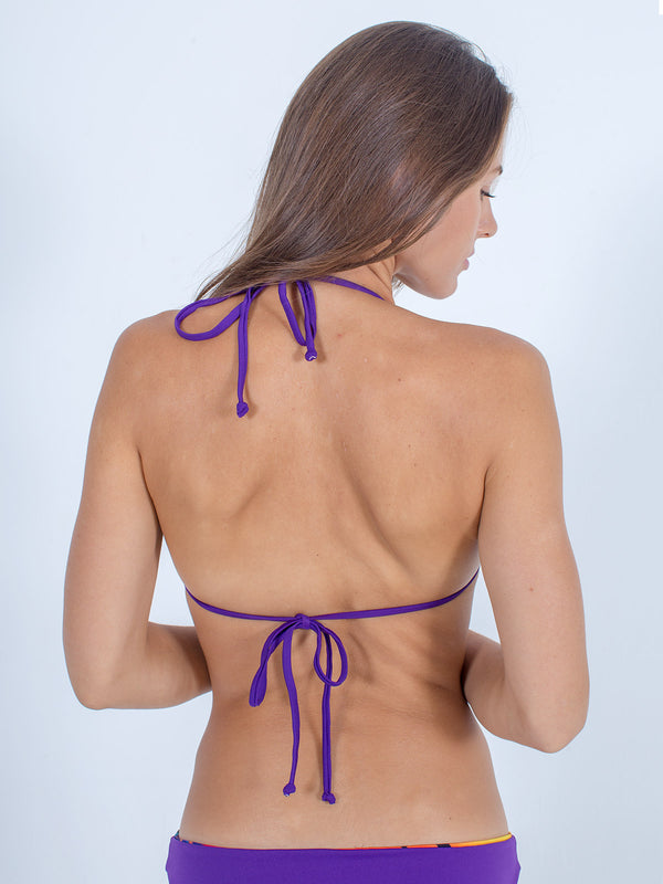 Sexy Brand women's swim bikini purple triangle top back view