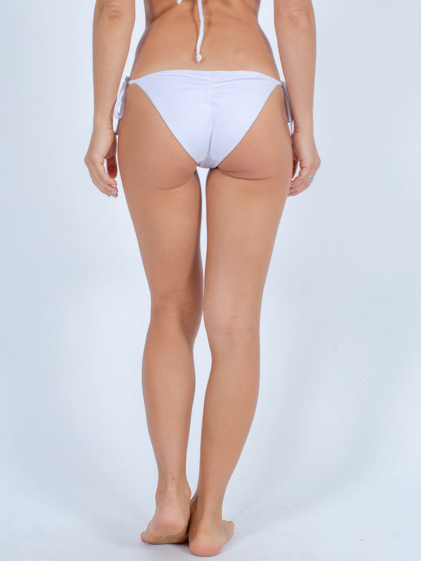 Sexy Brand women's swimwear side tie reversible bikini bottom white back view