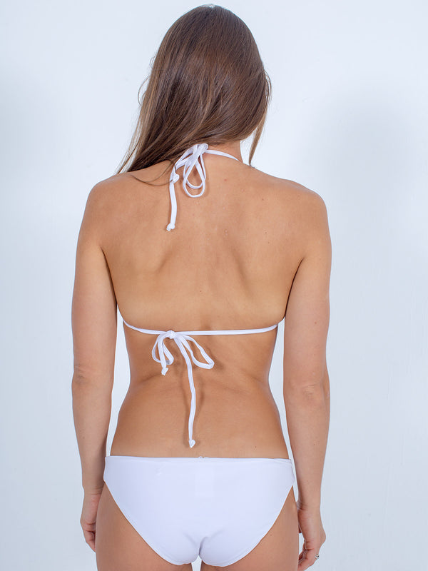 Sexy Brand women's swim bikini white triangle top back view