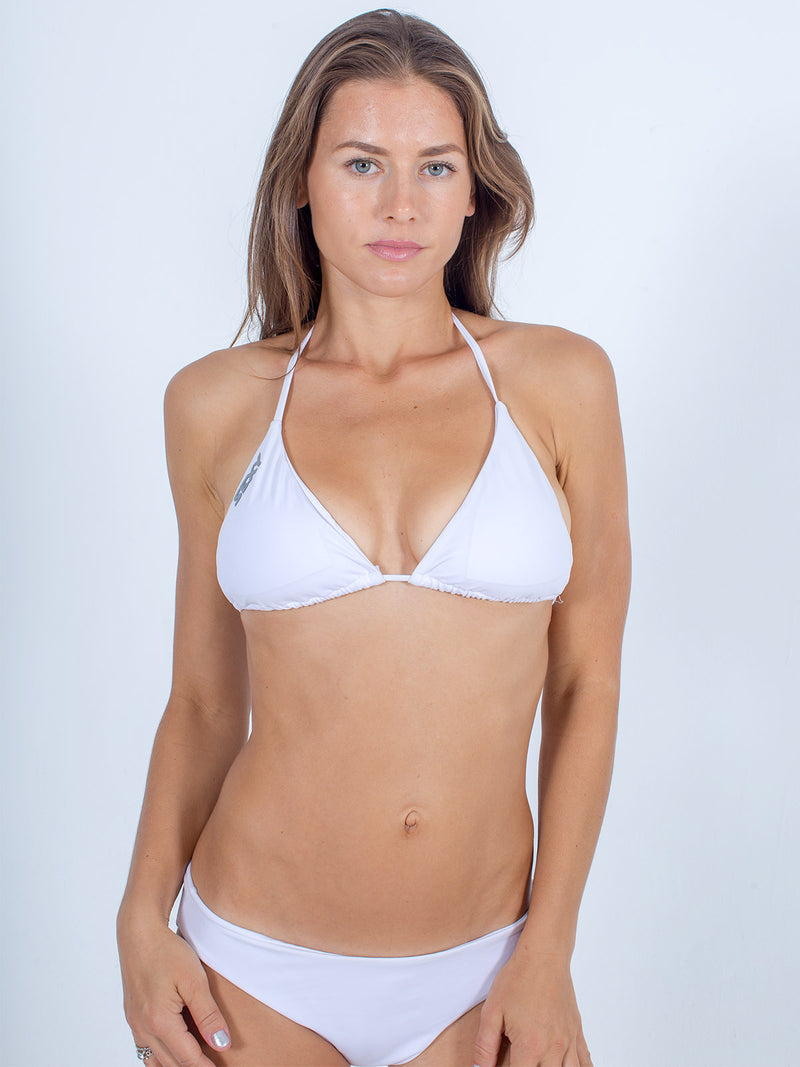 Sexy Brand women's swim bikini white triangle top