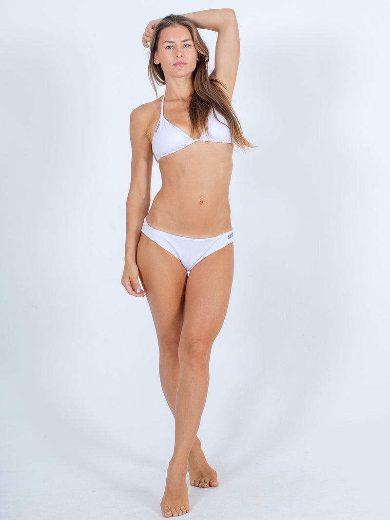 Sexy Brand Womens Classic Swim Bottom white with triangle swim top
