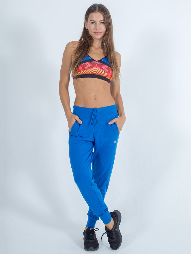 sexy brand womens joggers royal blue