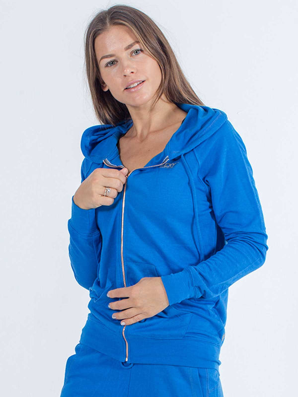 Softie Zip-Up Hoodie in Royal Blue