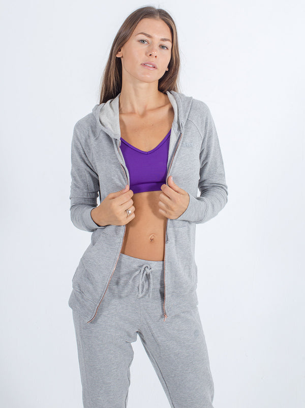 Softie Zip-Up Hoodie in Gray