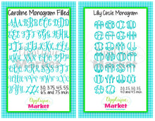Load image into Gallery viewer, Cupcake Monogram Design