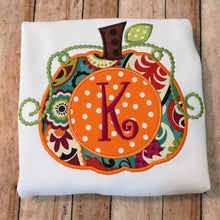 Load image into Gallery viewer, Swirl Monogram Pumpkin
