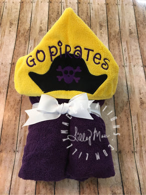 Pirate Hat Hooded Towel