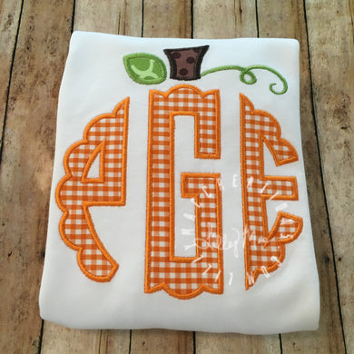 Monogram Pumpkin Topper Design