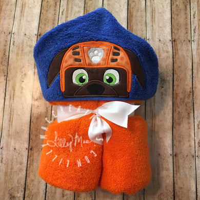 Zuma Character Inspired Hooded Towel