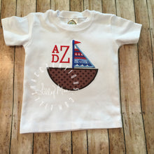 Load image into Gallery viewer, Sailboat Boy Monogram Design
