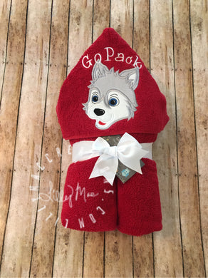 Wolf Hooded Towel