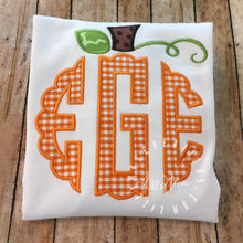 Load image into Gallery viewer, Monogram Pumpkin Topper Design