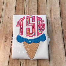 Load image into Gallery viewer, Ice Cream Monogram Design