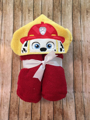 Marshal Character Hooded Towel