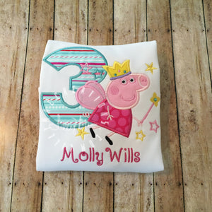 Pig Fairy Birthday Design