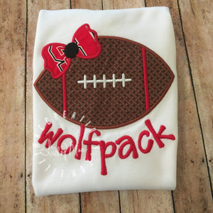 Football with Bow Design