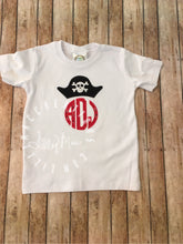 Load image into Gallery viewer, Pirate Hat Monogram Design