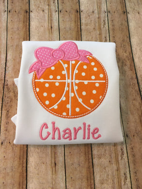 Basketball with Bow Design