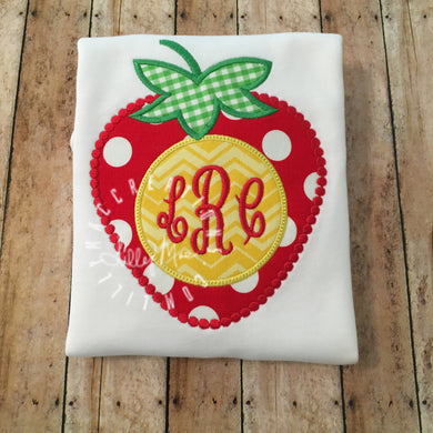 Strawberry Monogram Design