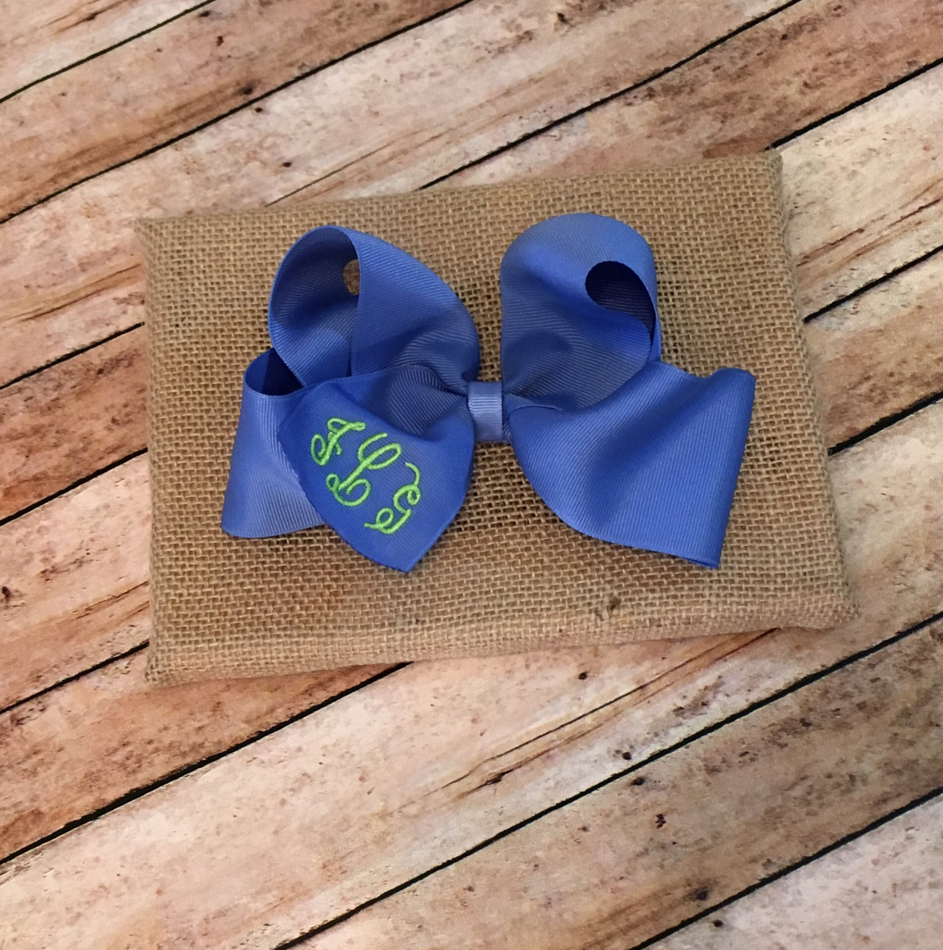 Monogram Large Boutique Bow – Lilly MacCreations