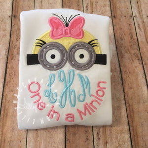 Girl Minion Monogram Topper Design