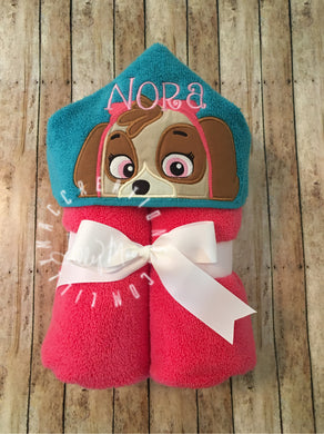 Skye Character Hooded Towel