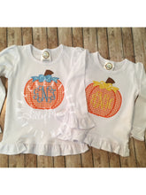 Load image into Gallery viewer, Gingham Pumpkin with Bow