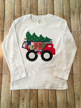 Load image into Gallery viewer, Christmas Tree Dump Truck Design