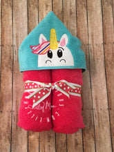 Load image into Gallery viewer, Unicorn Hooded Towel